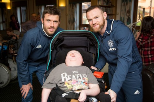 Josh With Wayne Rooney And Michael Carrick At Francis House Childrens Hospice Wayne Rooney