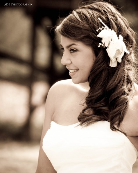 Side Swept Bridal Hairstyle Wedding Hairstyles