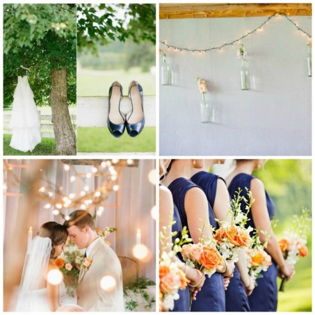 Navy And Blush Wedding Colorsoptimal Wedding Peach
