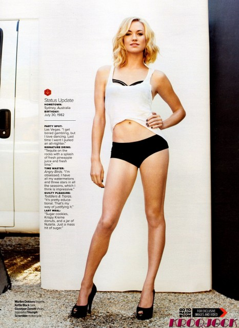 Yvonne Strahovski In The October Issue Of Maxim Magazine Hq Yvonne Strahovski
