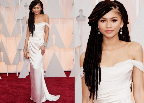 Zendaya In Vivienne Westwood Braids Hair Dreadlocks Oscars Zendaya